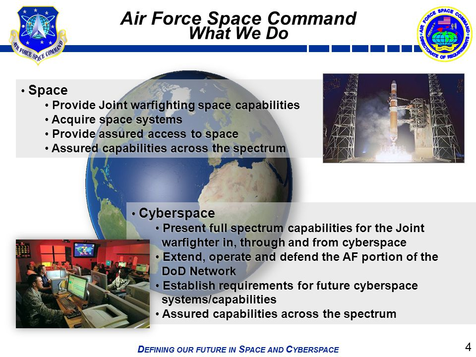 Air Force Space Command What We Do