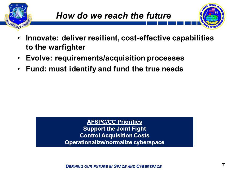 How do we reach the future