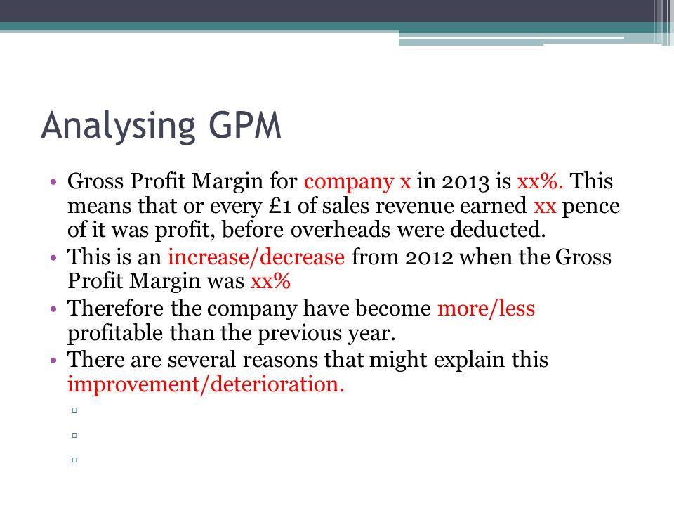 Analysing GPM