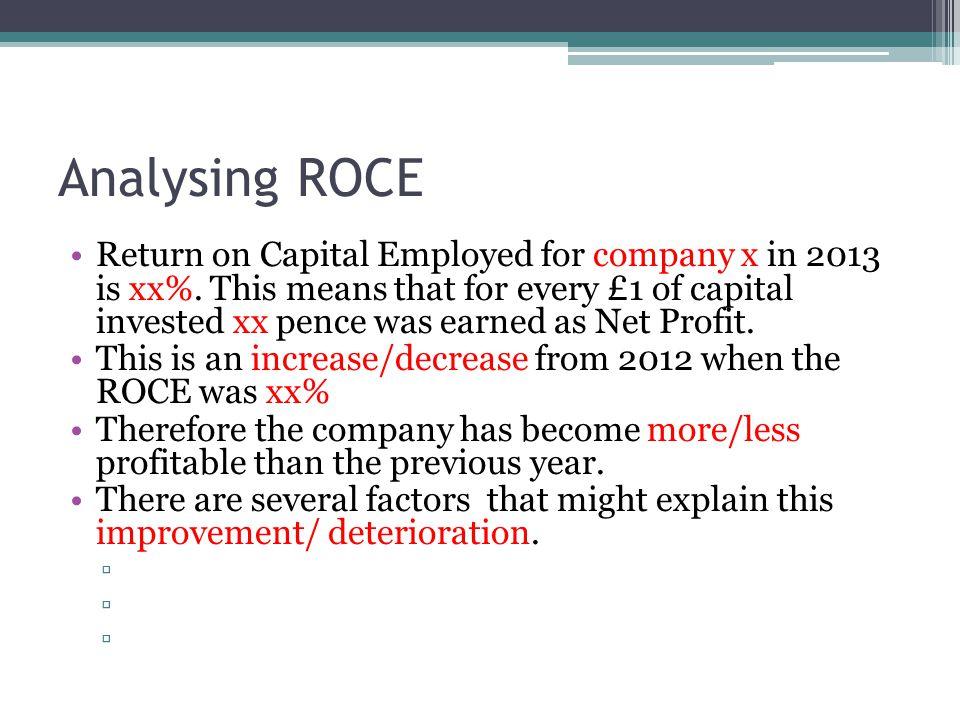 Analysing ROCE