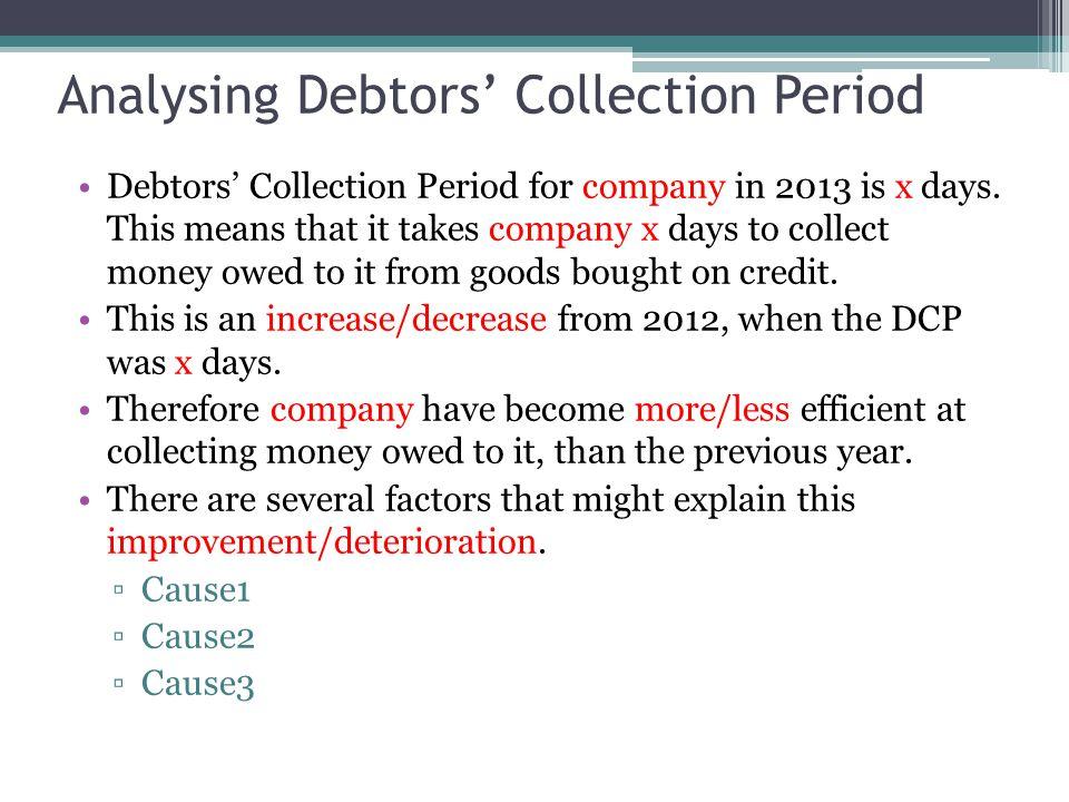 Analysing Debtors' Collection Period