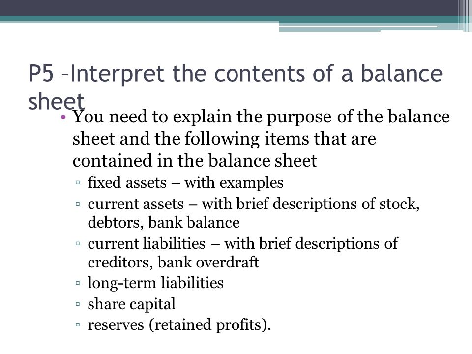 p5 unit 2 business A powerpoint for unit 2 business resources task 5 - financial statements.