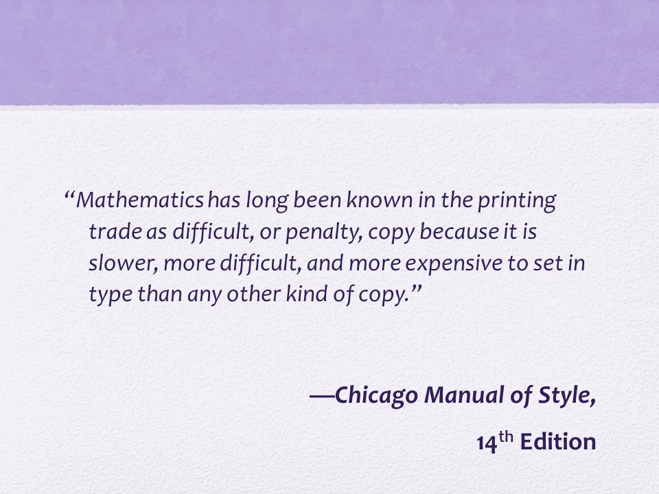 —Chicago Manual of Style, 14th Edition