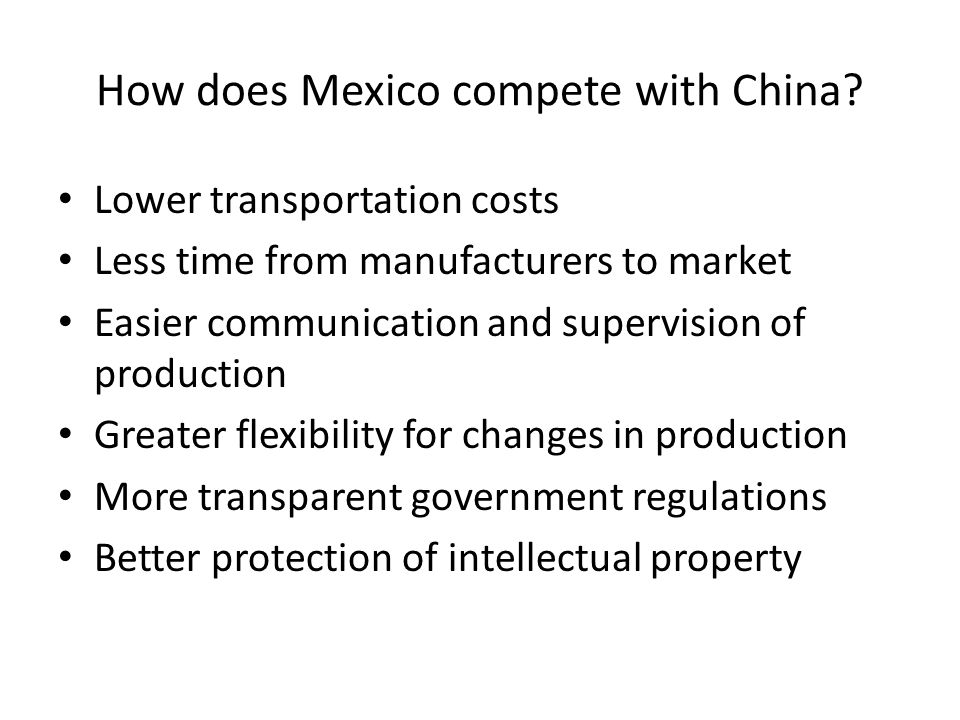 How does Mexico compete with China