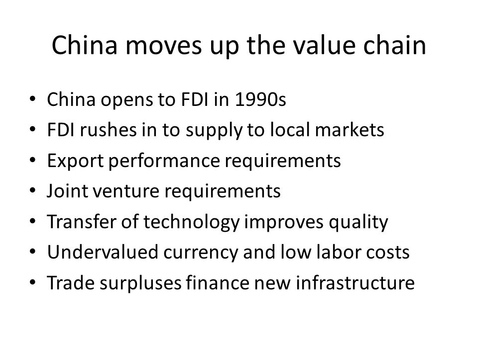 China moves up the value chain