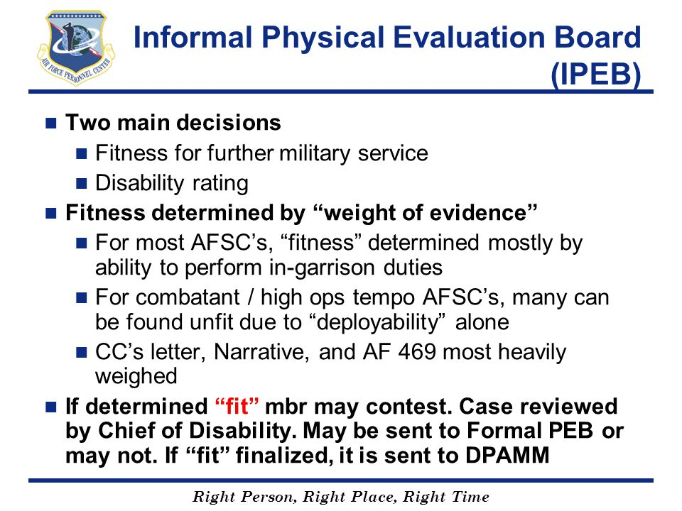 Informal Physical Evaluation Board (IPEB)