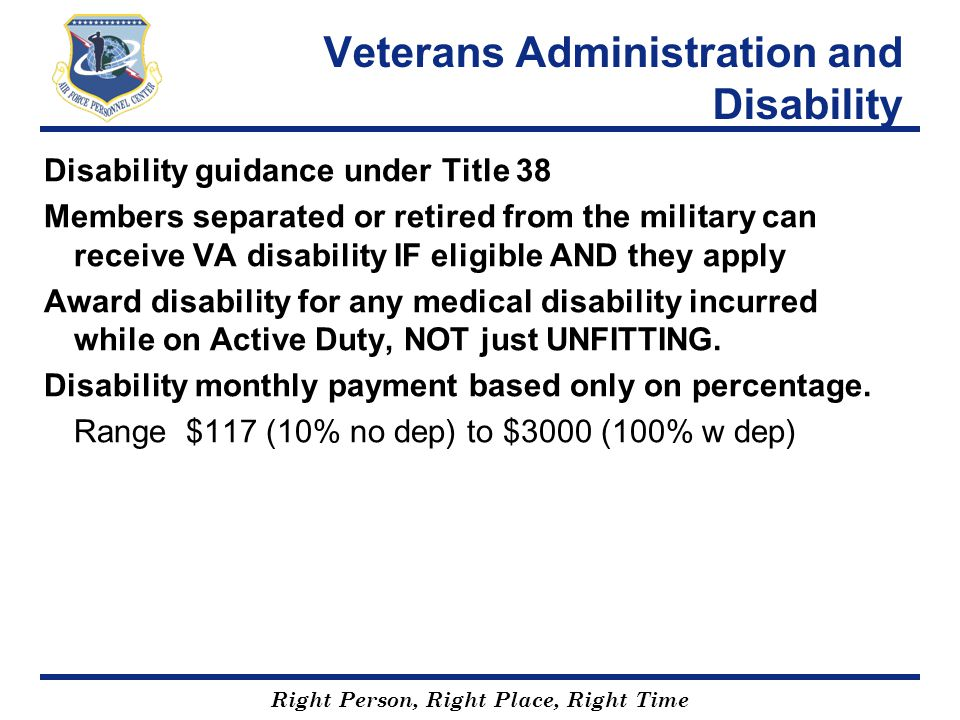 Veterans Administration and Disability