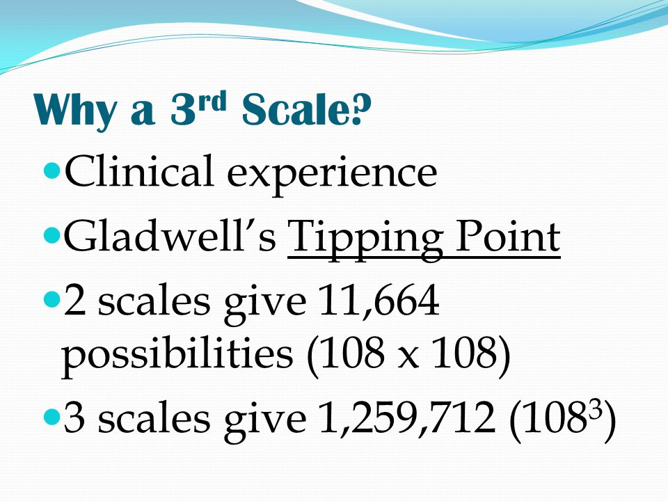 Why a 3rd Scale Clinical experience Gladwell's Tipping Point