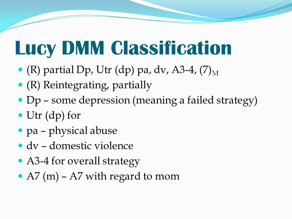 Lucy DMM Classification