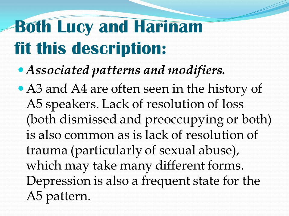 Both Lucy and Harinam fit this description:
