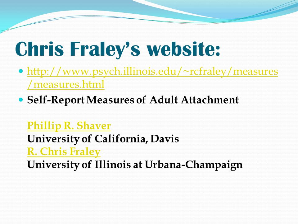 Chris Fraley's website: