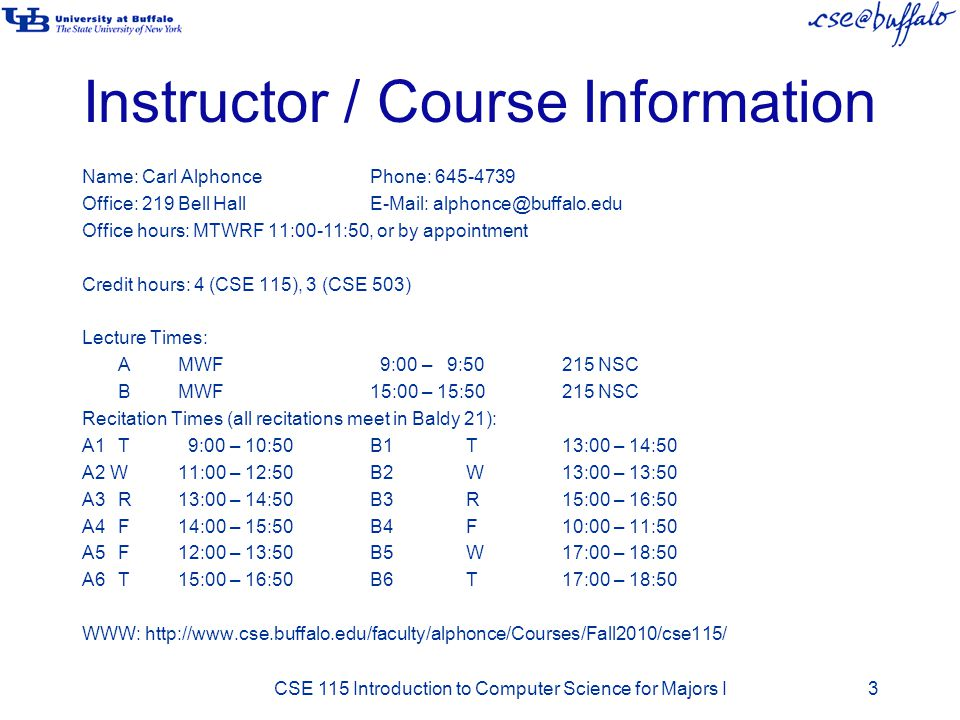 Instructor / Course Information