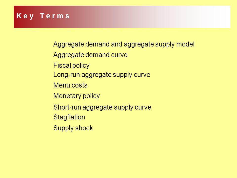 K e y T e r m s Aggregate demand and aggregate supply model