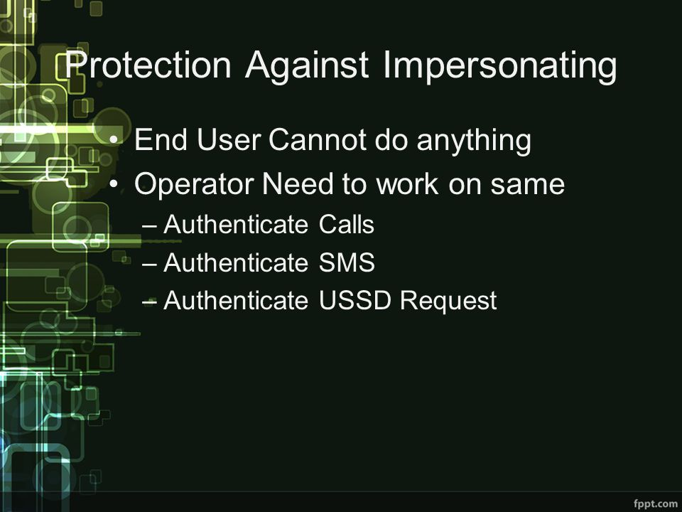 Protection Against Impersonating