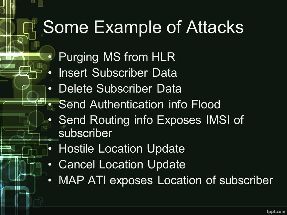 Some Example of Attacks