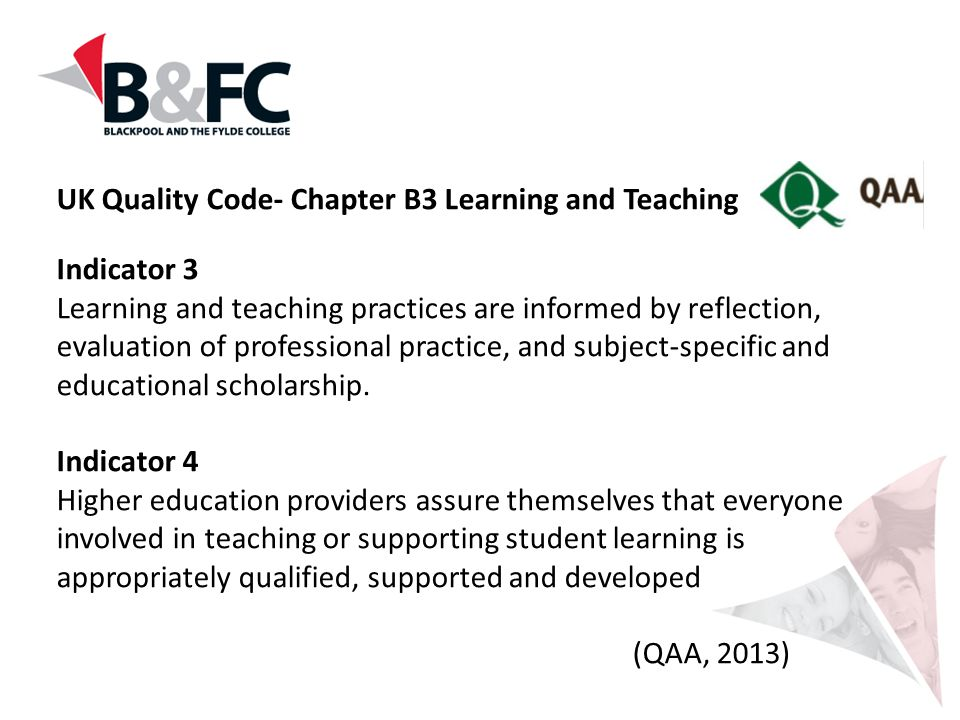 UK Quality Code- Chapter B3 Learning and Teaching