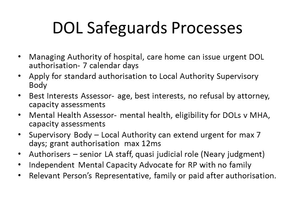 DOL Safeguards Processes