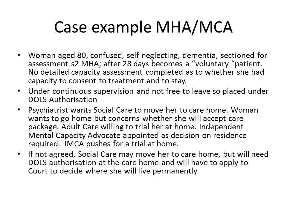 Case example MHA/MCA