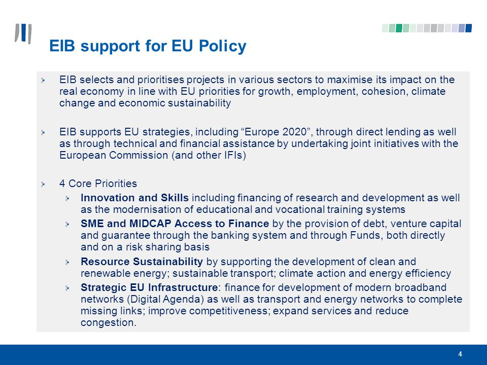 EIB support for EU Policy