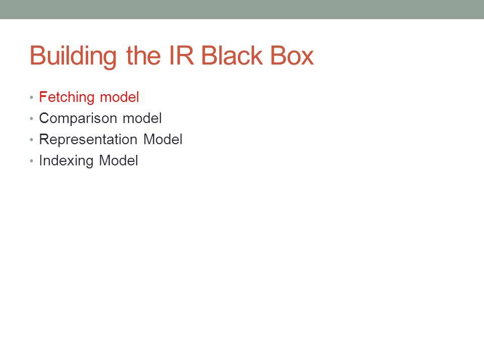 Building the IR Black Box