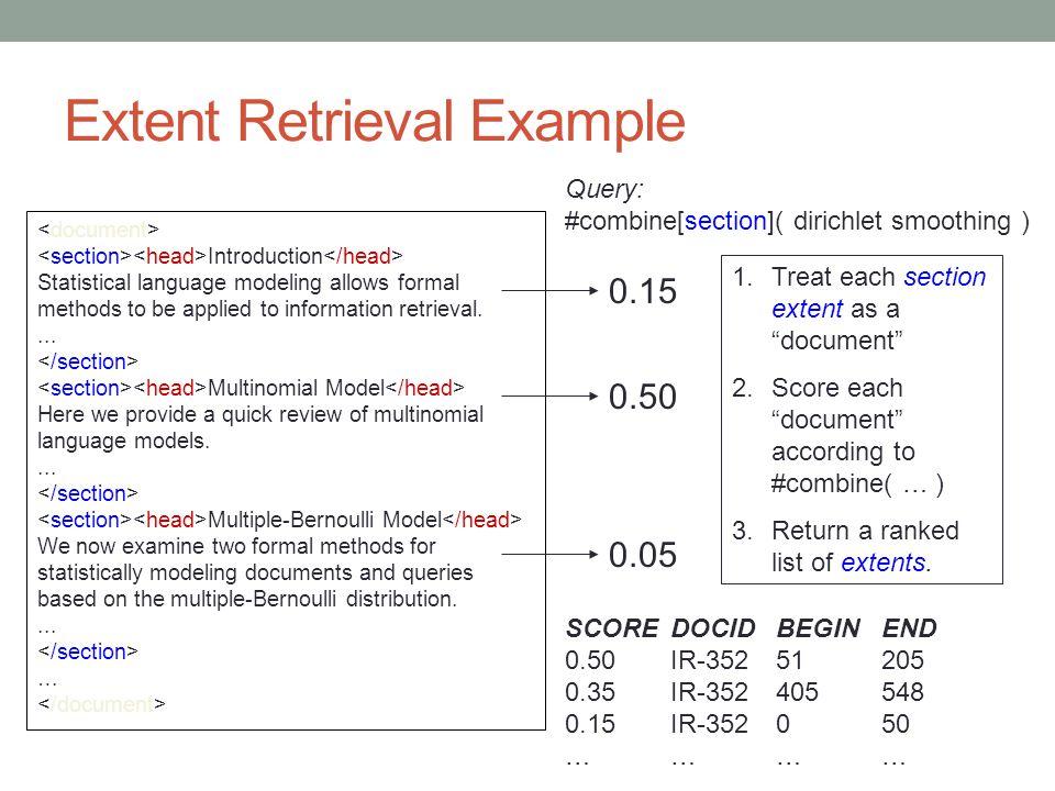 Extent Retrieval Example