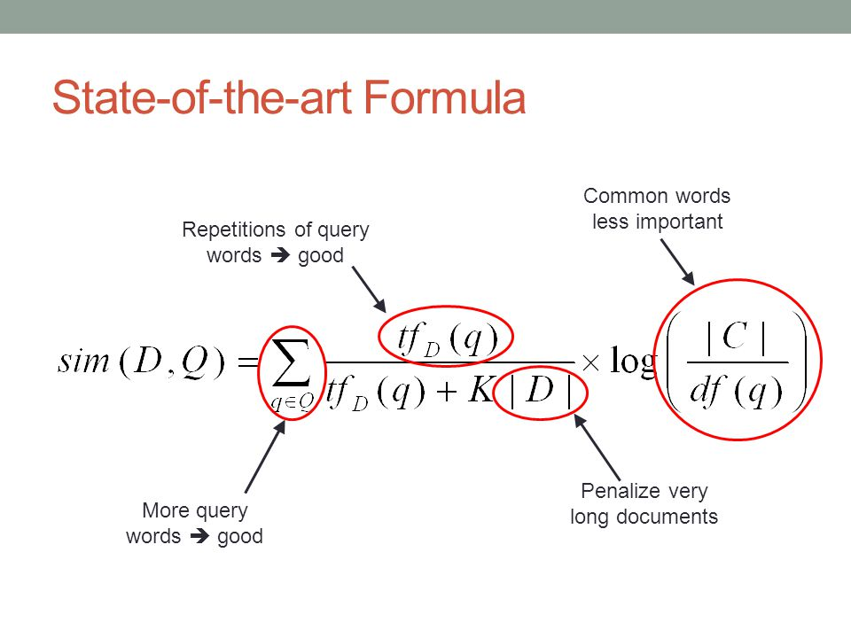 State-of-the-art Formula