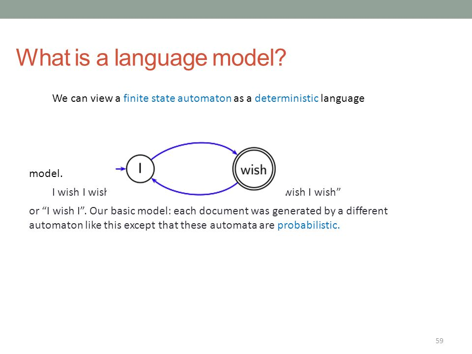 What is a language model