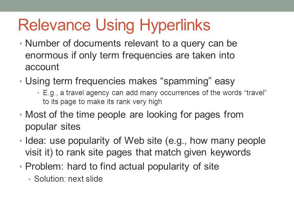 Relevance Using Hyperlinks