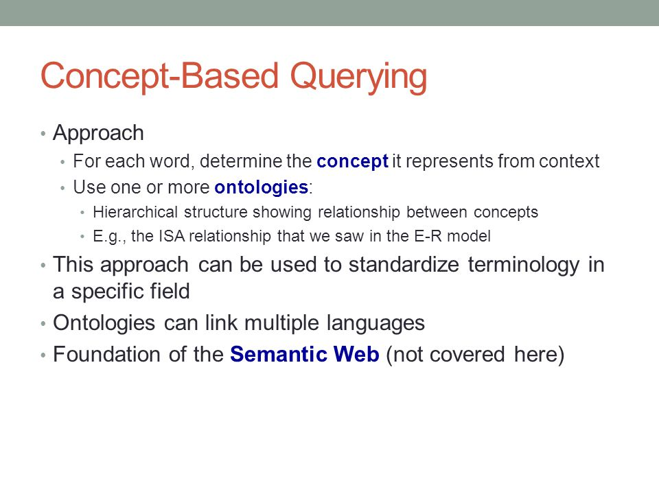 Concept-Based Querying
