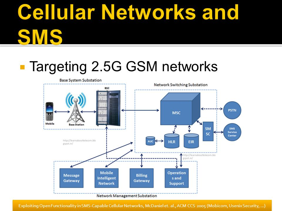 Cellular Networks and SMS