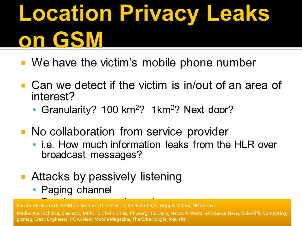 Location Privacy Leaks on GSM
