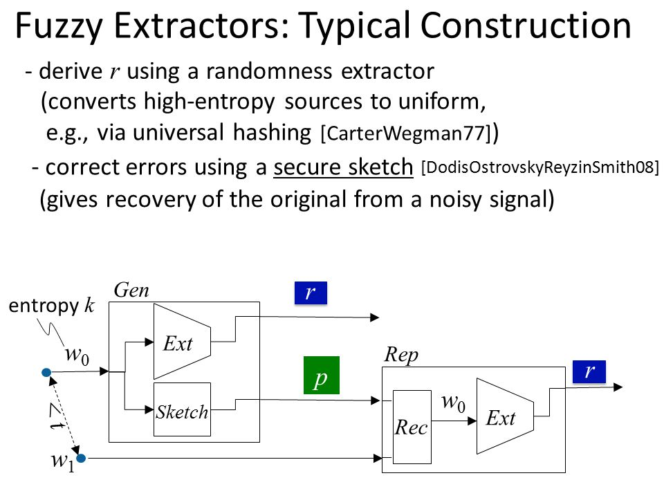 Fuzzy Extractors: Typical Construction
