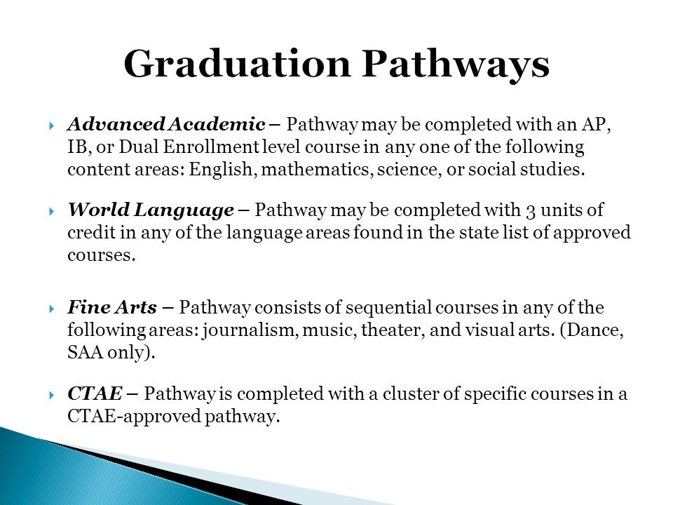 Graduation Pathways