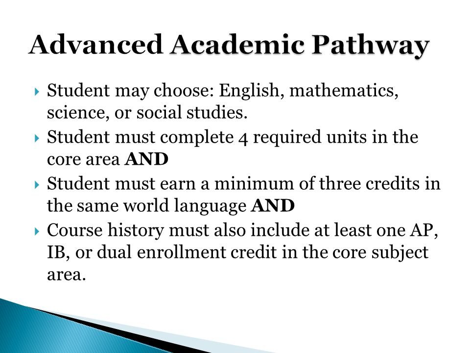 Advanced Academic Pathway