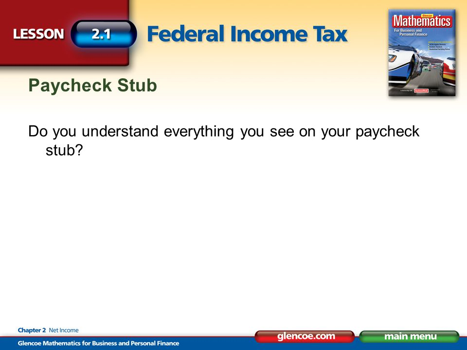 Paycheck Stub Do you understand everything you see on your paycheck stub
