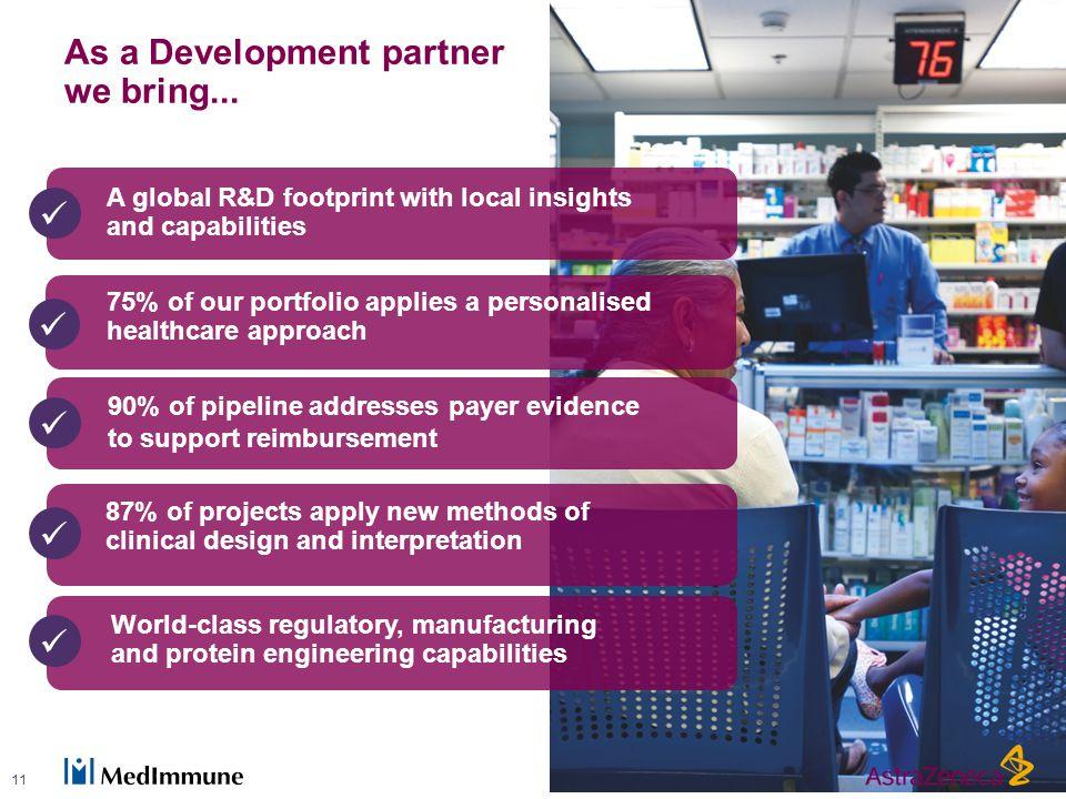 As a Development partner we bring...