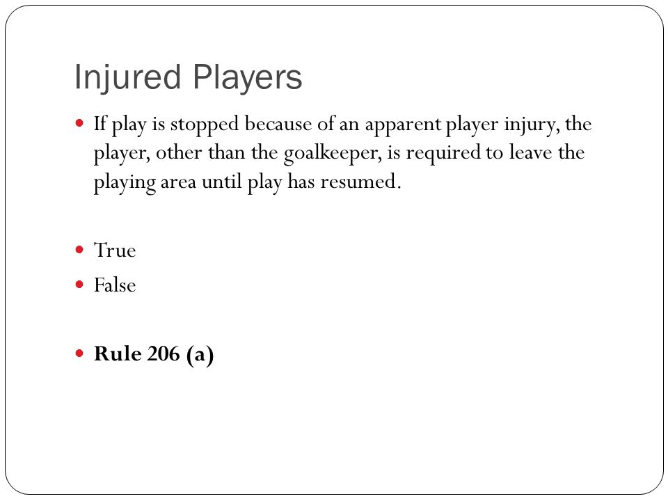 Injured Players