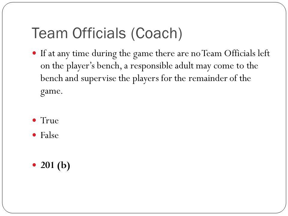 Team Officials (Coach)