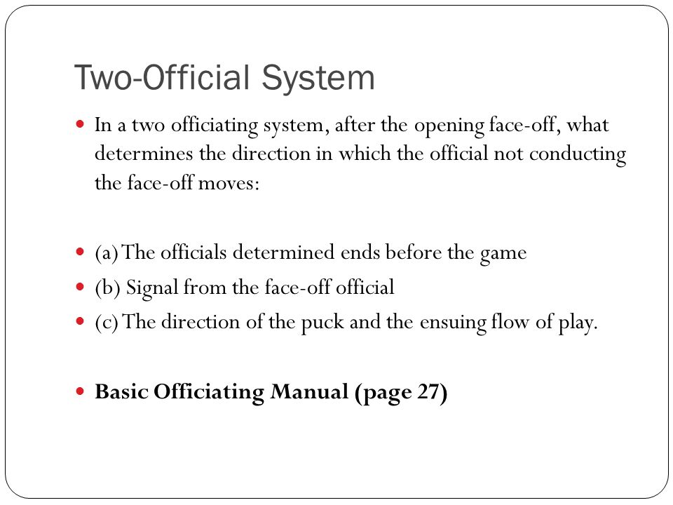 Two-Official System