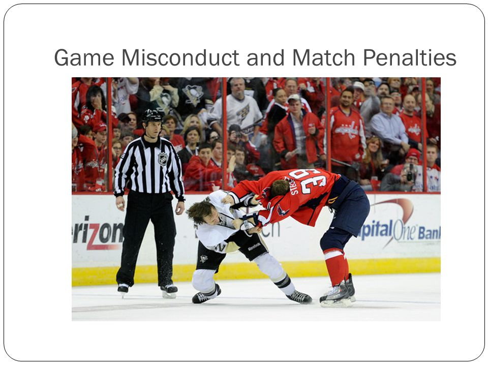 Game Misconduct and Match Penalties