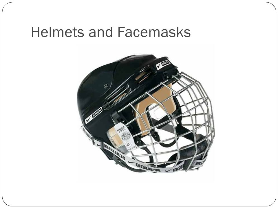 Helmets and Facemasks