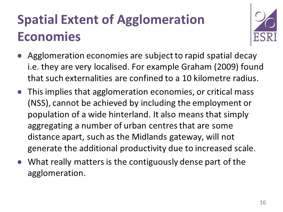 Spatial Extent of Agglomeration Economies