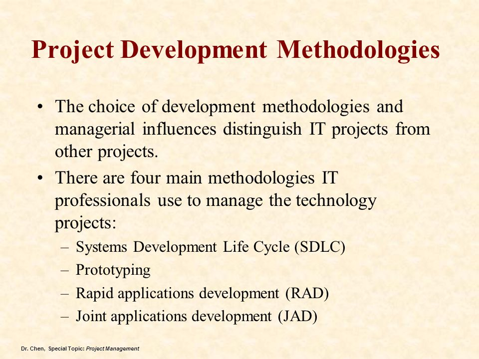 Project Development Methodologies