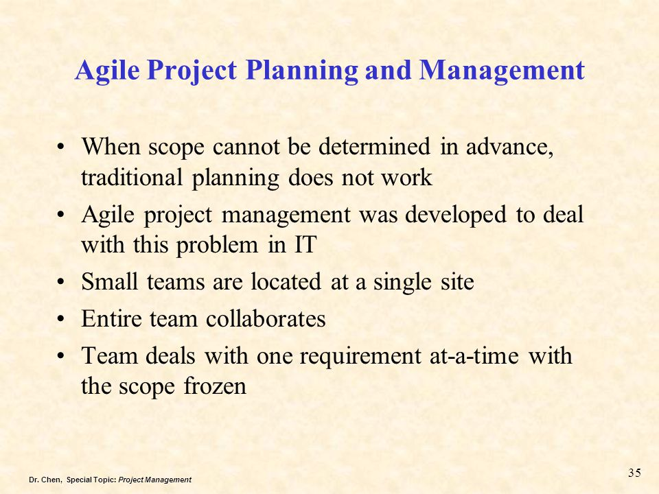 Agile Project Planning and Management