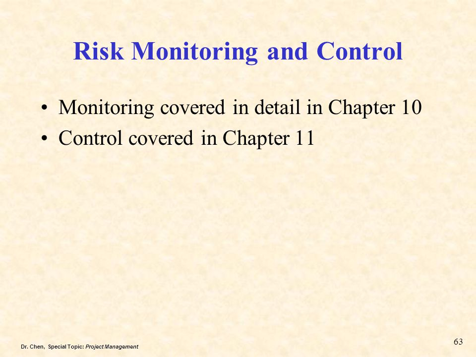 Risk Monitoring and Control