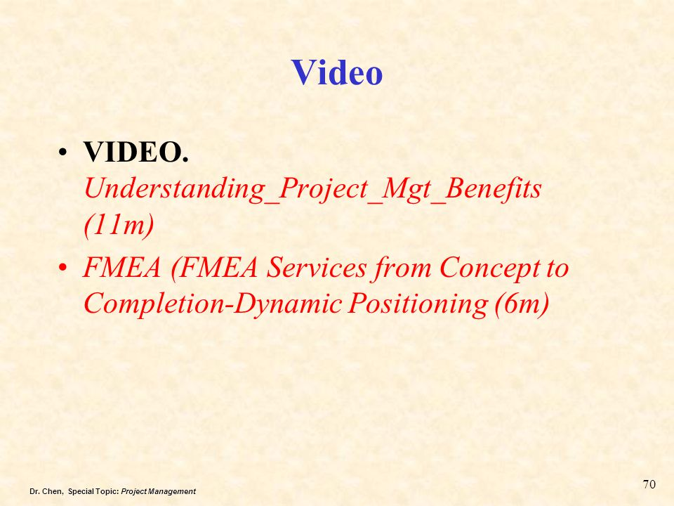Video VIDEO. Understanding_Project_Mgt_Benefits (11m)