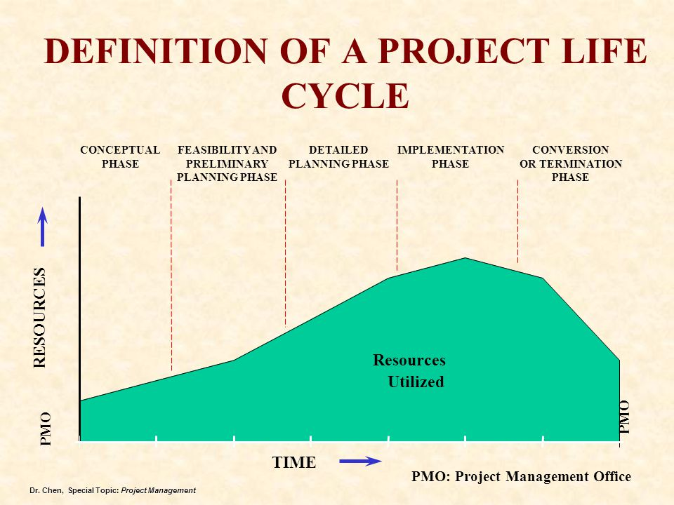 DEFINITION OF A PROJECT LIFE CYCLE
