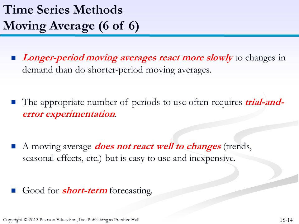 Time Series Methods Moving Average (6 of 6)