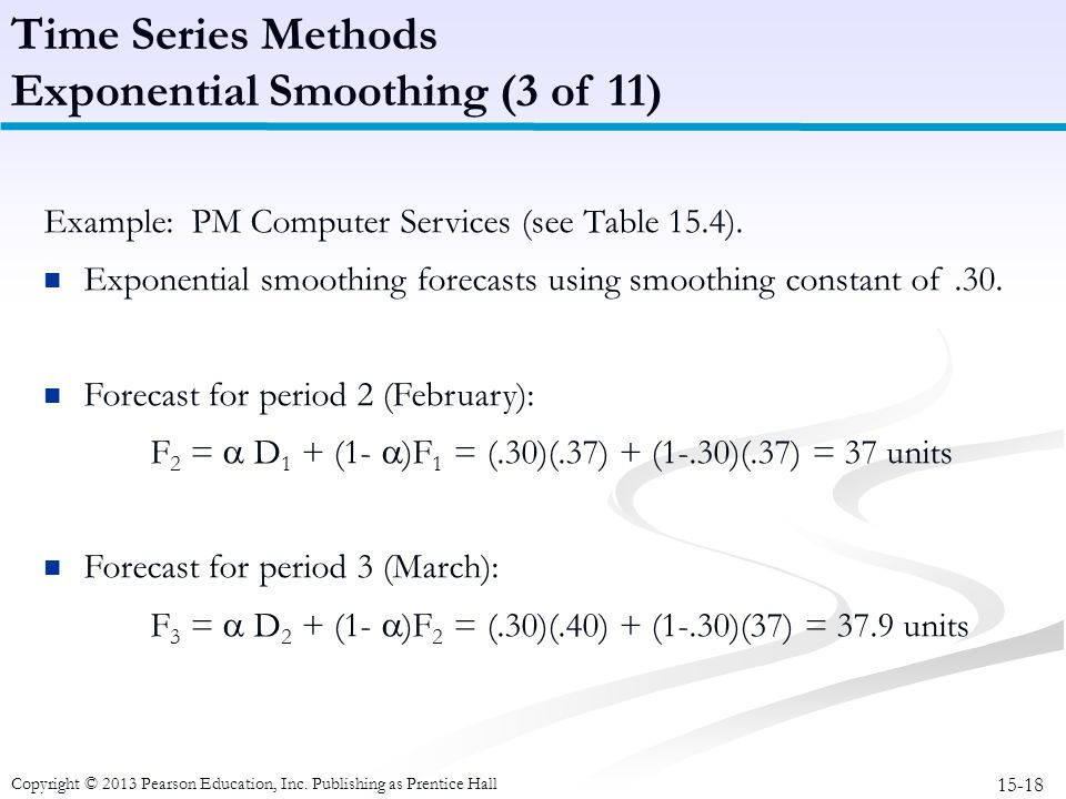 Exponential Smoothing (3 of 11)
