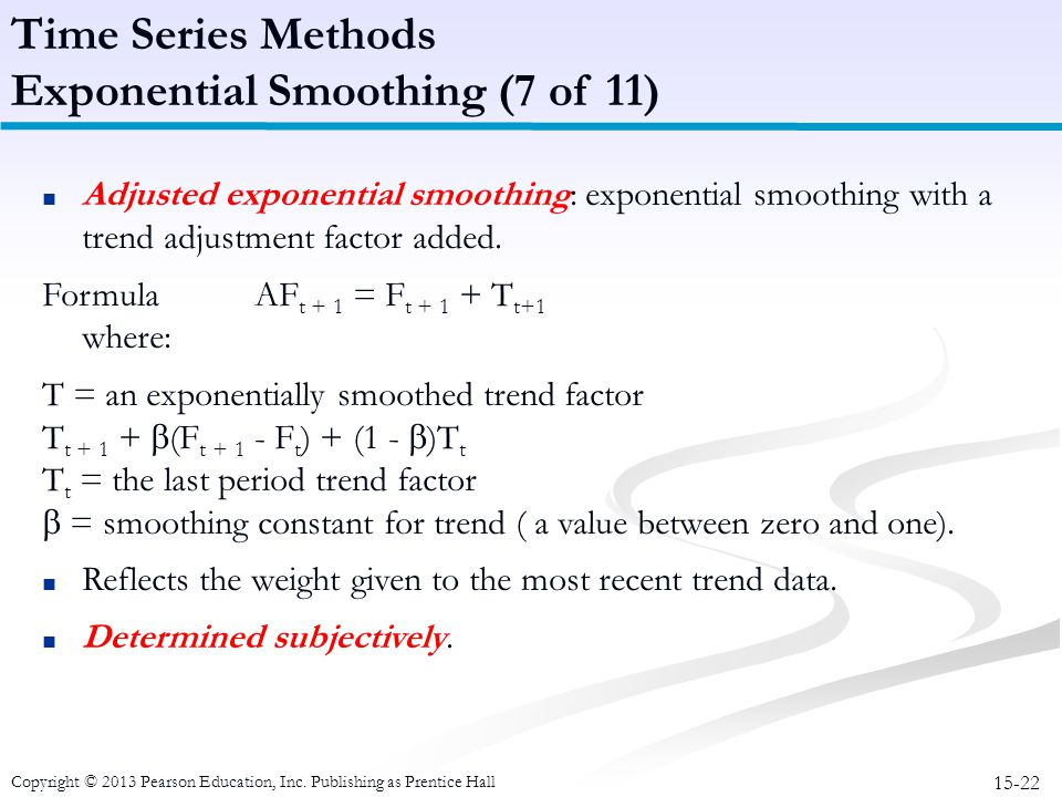 Exponential Smoothing (7 of 11)